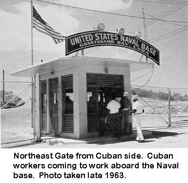 North East Gate, US Naval Base, Guantanamo Bay, Cuba